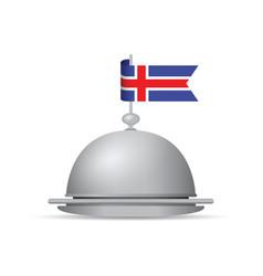 Iceland flag platter vector