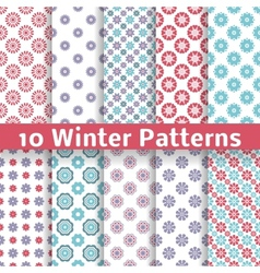 Light winter romantic patterns tiling vector image vector image