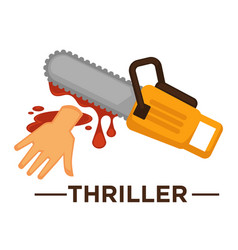 Movie genre thriller cinema icon of saw vector
