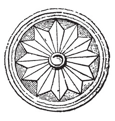 Rosette is very similar to those found at mycenae vector