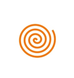 Simple orange spiral icon vector image vector image