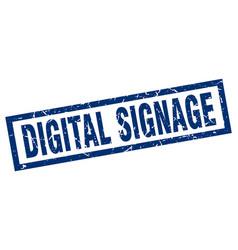 square grunge blue digital signage stamp vector image vector image