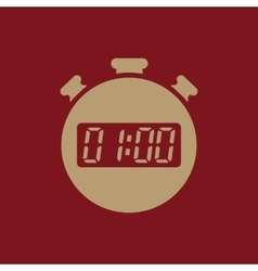 The 60 seconds minutes stopwatch icon clock and vector