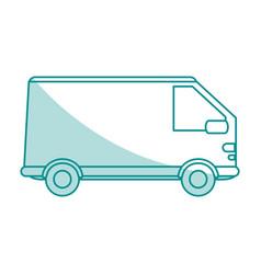 Truck flat shadow vector