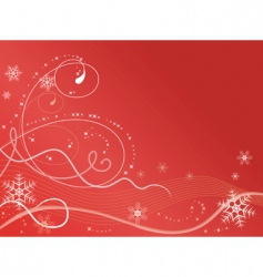 winter background with snowflakes illustrat vector image vector image