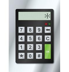 electronic lock vector image