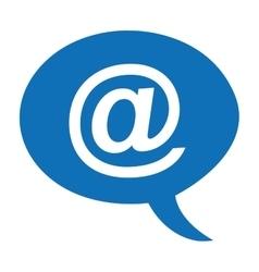 arroba symbol speech icon vector image