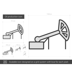 Oil production line icon vector image