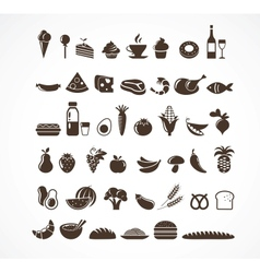 Food icons and elements vector image
