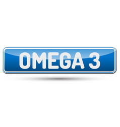 Omega 3 - abstract beautiful button with text vector