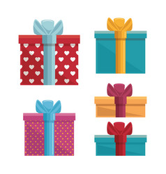 Gift box present birthday card vector