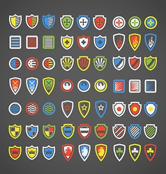 Abstract color arms on shields vector image