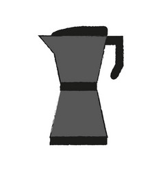 Stove top espresso coffee pot icon image vector