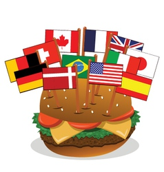 Multi-ethnic sandwich vector