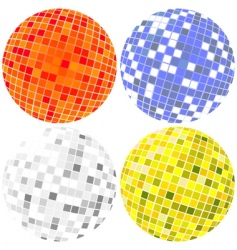 Disco globes set vector