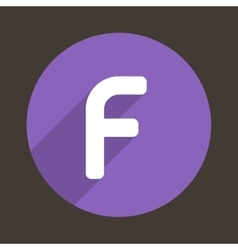 Letter f logo flat icon style vector