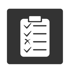 Task list icon from commerce buttons overcolor set vector