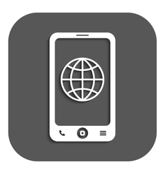 The phone icon network symbol flat vector