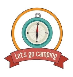 Summer camping and travel cartoon vector