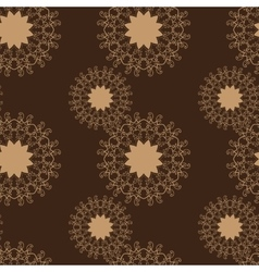 Brown stylized flowers seamless abstract vector