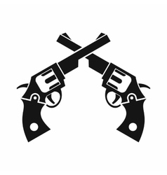 Revolvers icon simple style vector