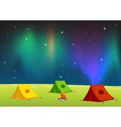 Camping field vector