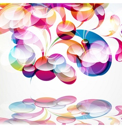 Abstract colorful arc-drop background vector image