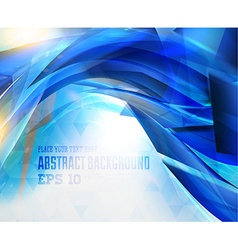 Abstract hi tech blue background vector
