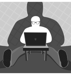 Anonymous User and Computer vector image