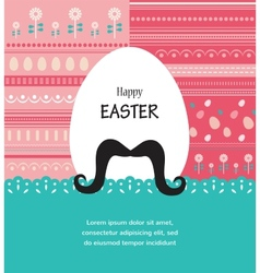 Background and greeting card with hipster Easter vector image