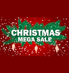 christmas sale banner holiday discount xmas winter vector image vector image