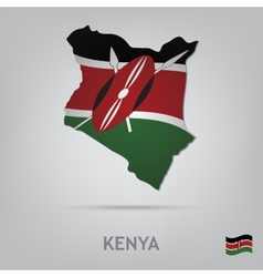 country kenya vector image