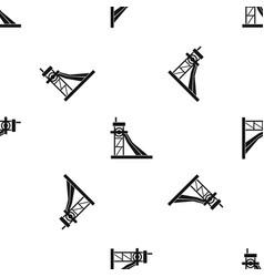 Equipment for washing rocks pattern seamless black vector
