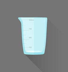 Flat style measures glass icon vector
