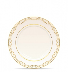 Floral ornament plate vector