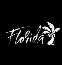 Florida modern dry brush lettering retro vector