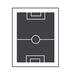 football pitch icon on white background football vector image