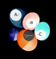 glass circles on black vector image vector image