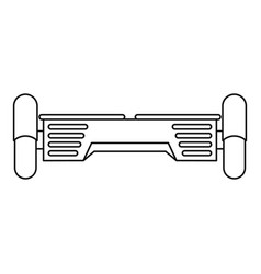 Hover board gyro pod icon outline style vector
