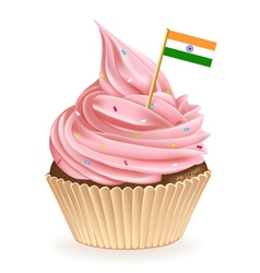 Indian cupcake vector