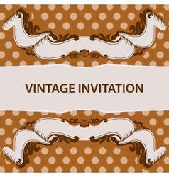 invitation and ribbon vector image