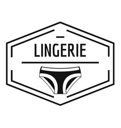 Lingerie body logo simple black style vector