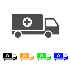 Mobile hospital automobile flat icon vector
