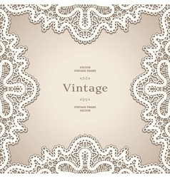 Old lace frame vector image