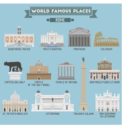 Rome famous places vector