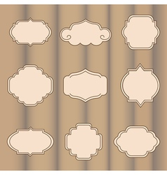 Set of labels on a light brown background vector image vector image