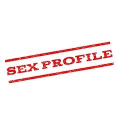 Sex Profile Watermark Stamp vector image vector image