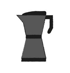 Stove top espresso coffee pot icon image vector