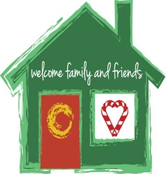 Welcome family vector