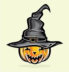 Witch hat sa bundevom resize vector